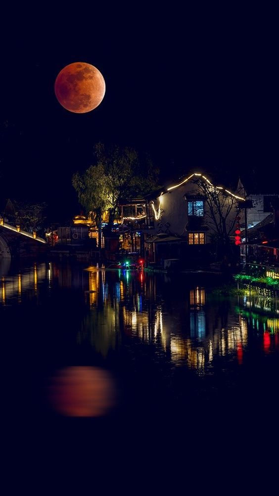 China Photography Landscapes Creative Travel Photography Night Lights Photo Time 2015 Zhejiang Hangzhou Scener Night Scenery Scenery Photography Beautiful Moon