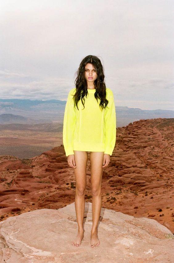 Daniela Braga Rocks Colorful Style for Nasty Gals Pre Spring 2013 Lookbook