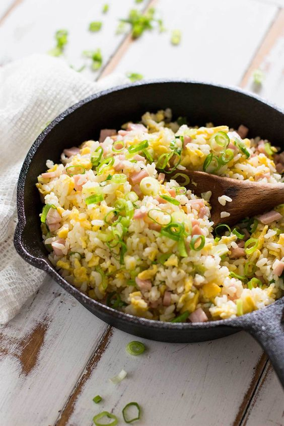 """Japanese fried rice, known as """"yakimeshi"""" in Japan, is so flavourful and delicious and super easy to make and it doesn't require any special ingredients!"""