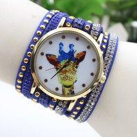 Wish | Fashion Style Giraffe Pattern Women Quartz Watch