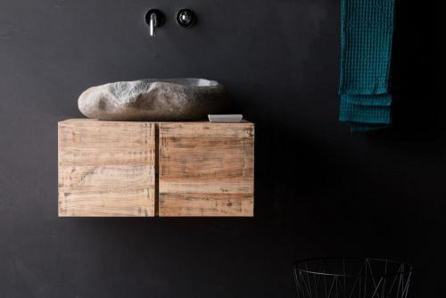 Hangend Waschtischunterschrank Holz Modern Mit Lichtspiegel