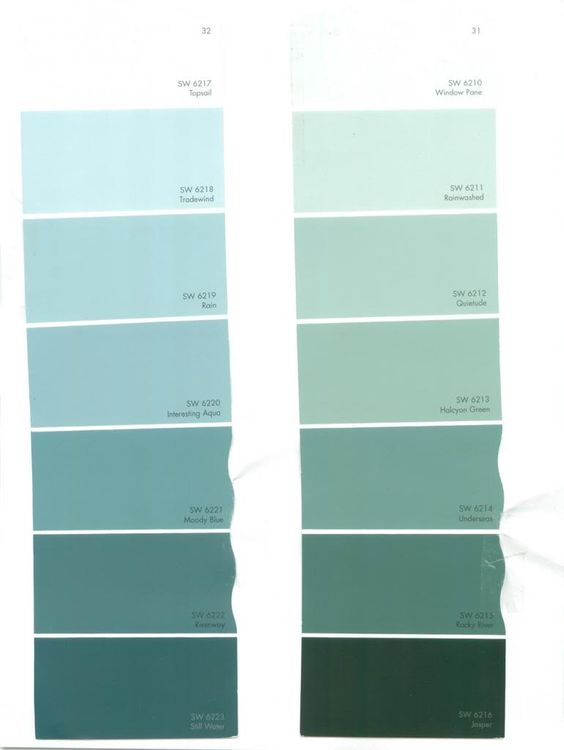 Room Color Schemes With Light Aqua Color Cards This