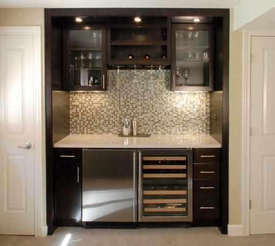 Wet bar ideas for small spaces ideas basement - Bars for small spaces ...
