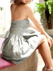 Strapless Chiffon Bow Bust Dress ~ Shipping Included