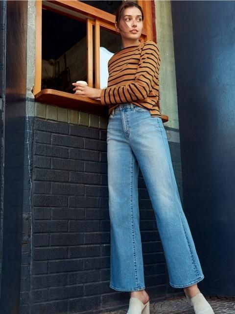 Our High-Rise Wide Fit Jeans are the perfect fit, flare, and fall essential. | UNIQLO