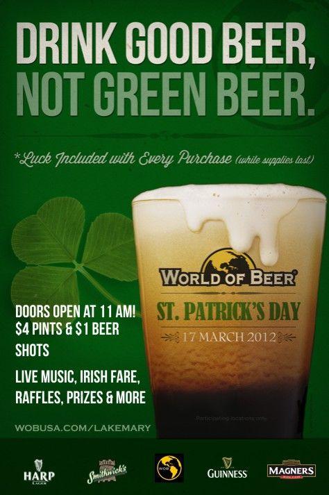 $4 Pints, $1 Beer shots.