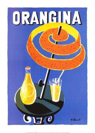 Orangina Posters par Bernard Villemot sur AllPosters.fr