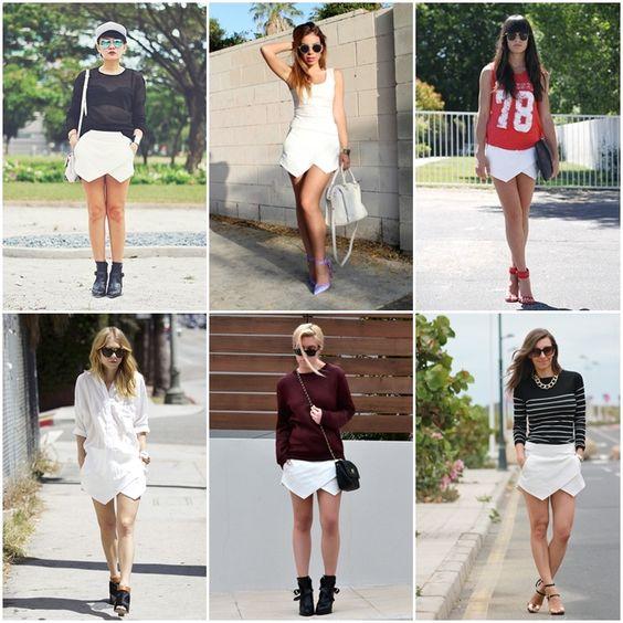 falda blanca de zara