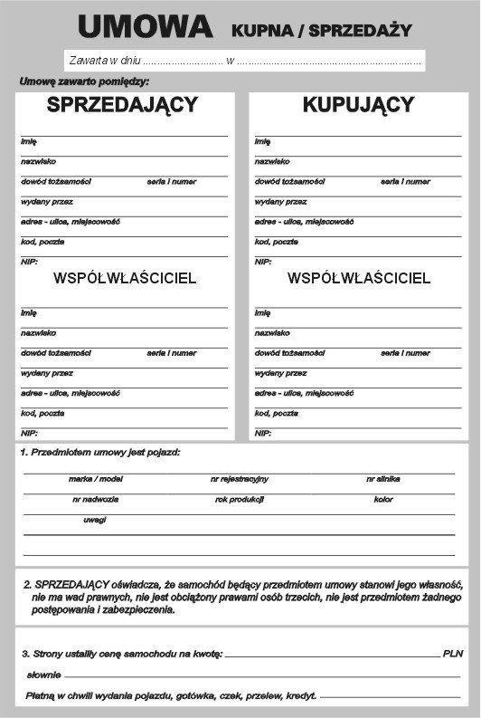 Apol Drukarnia Umowa Kupna Sprzedazy Samochodu Ze Wspolwlascicielem Ceny I Opinie Na Skapiec Pl Cars And Motorcycles Loteria Dory
