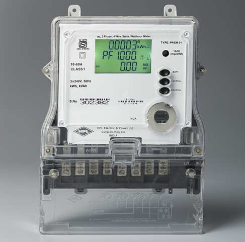 Three Phase Irda Meters From Hpl Is Compatible For Spot Billing To Print Bill Downloading Data Metering Gaming Products