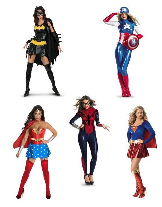 Disfraces de super héroe.
