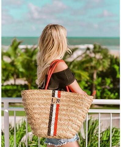 Palpites Fashion: Bolsa de palha personalizada