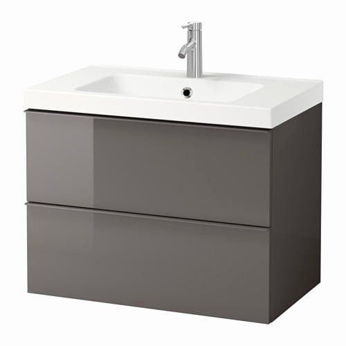 Bathroom Vanity Chairs With Backs Beautiful Godmorgon Odensvik Sink Cabinet With 2 Drawers High Gloss White