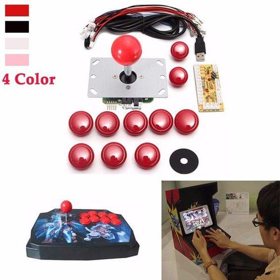 Jogo de arcade DIY peças de reposição kits conjunto usb codificador para joystick pc e botões