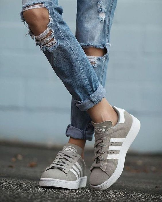 Sage green Adidas sneakers