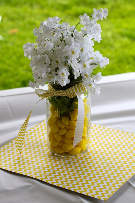 Table centerpieces for quot you are my sunshine first