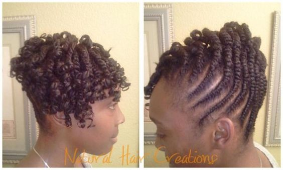 Two Strand Twist With Extensions