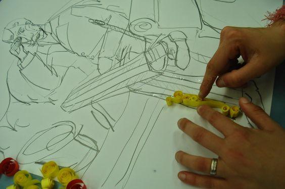 anne (w): Esboços de escritores.....em filigrana de papel