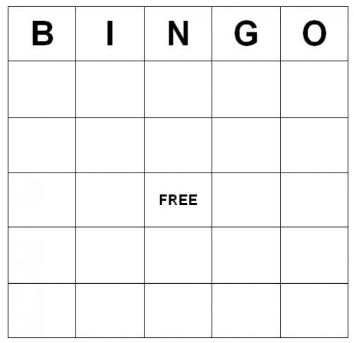 Blank Bingo Card Template Microsoft Word Bingo Card Template Blank Bingo Cards Bingo Cards Printable