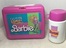 "1989 Vintage Mattel Thermos ""Cool Times Barbie"" Plastic Lunchbox With Thermos"