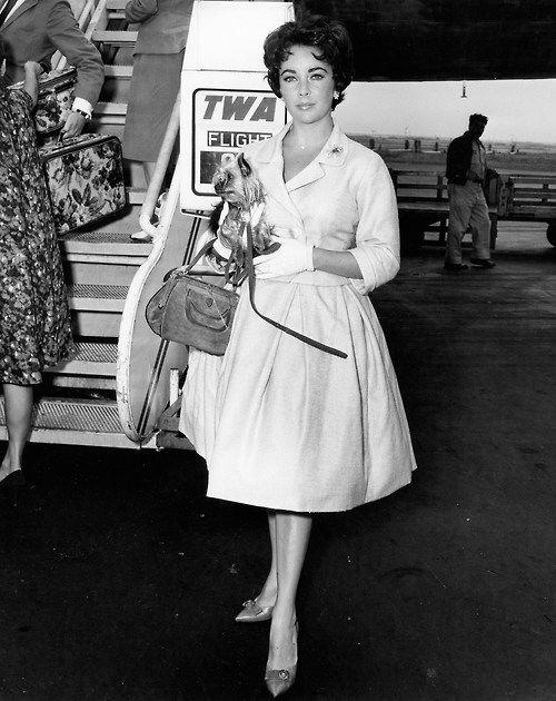Elizabeth Taylor on TWA - Trans World Airlines