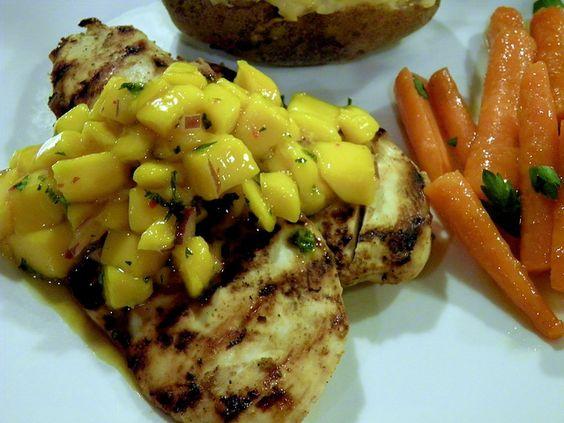 Indian Chicken with Mango Salsa: