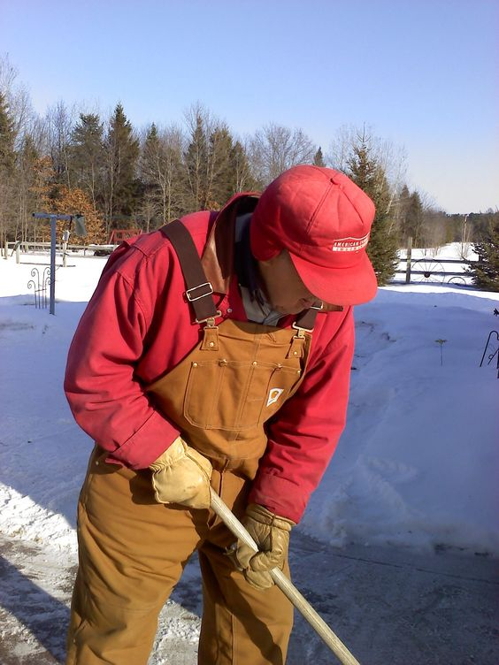 Dad...always working but it was who he was...he really began to hate the winter work though