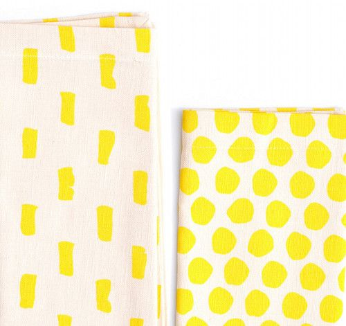 Mixed Print Napkins from Leif
