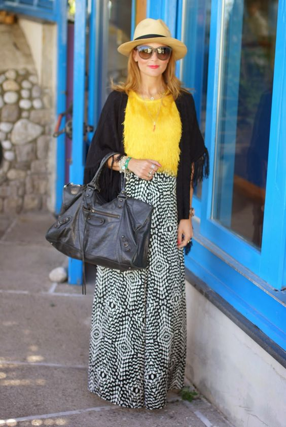 Satin maxi skirt, hairy fabric topFashion and Cookies - fashion blog
