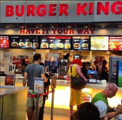 Una buena acción de Marketing de Guerrilla. Punto para Burger King