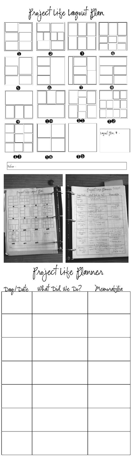 project life planner sheets: free printables from Elle C