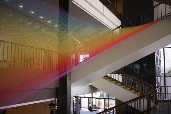 polychromatic thread sculptures plexus by gabriel dawe