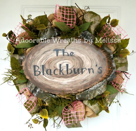 Hunting Theme Wreath  Adoorable Wreaths by Melissa