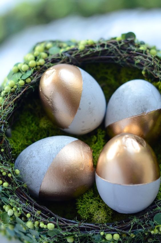 DIY concrete Easter eggs: