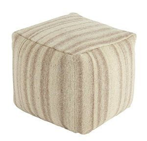 """Ashley striped pouf 100% wool - 16"""" x 16"""" x 16"""" $90"""