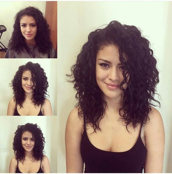 37 Adorable Looks With Curly Hair 2020 Shoulder Length Curly Hair Curly Hair Styles Medium Length Hair Styles