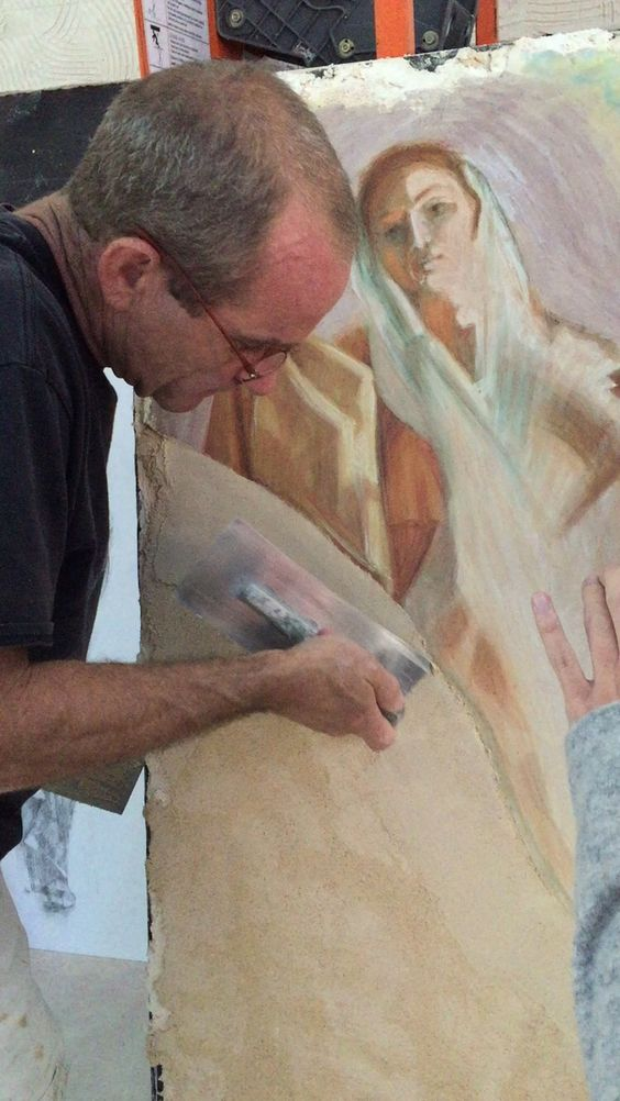 @frescoschool: Video: Ian Hardwick Joining giornata #frescopainting #frescoschool #fresco #frescoplaster #frescotechnique #frescoworkshop