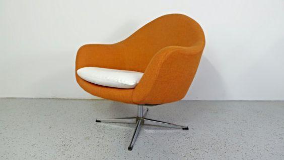 mid century modern Overman style orange by AtomicJunkiesGallery