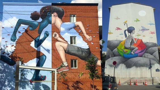 Conheça os belos e coloridos murais do artista de rua Julien Malland - Stylo Urbano