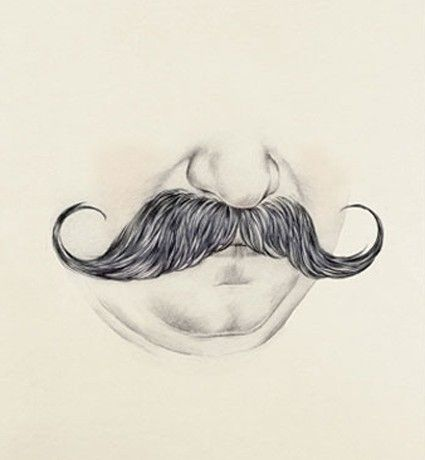 how to draw a mustache on a person