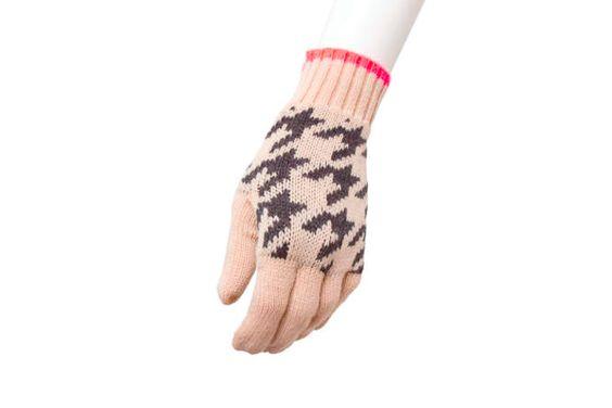 Gloves maxi houndstollth print black / Guantes print maxi pata de gallo negro