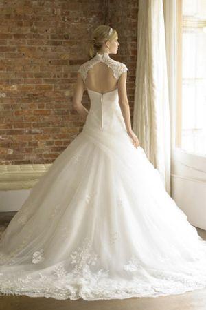 Robe De Mariée Tulle Avec Perle Formelle Sans Manches Longueur Ras Du Sol Mode…
