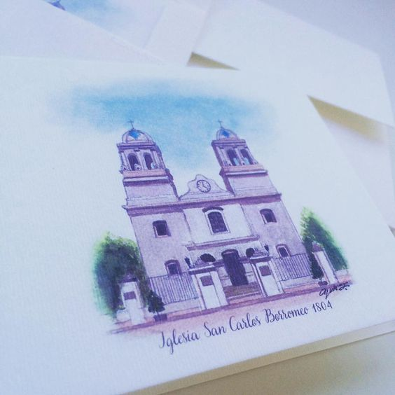 Save the date com igreja aquarelada #yukifujitabrasil 😍😍😍 #casamento #wedding #convite #susanafujita #identidadevisual #savethedate