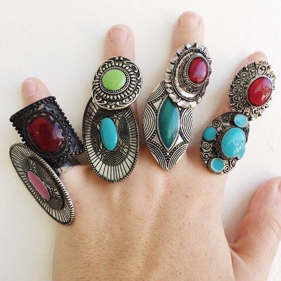 New Tibetan silver carved stone rings New Tibetan silver tone carved stone rings with adjustable straps to fit any ring size. Stylish and bohemian. $35 for all or $5 each. Interested? Make an offer! Jewelry Rings