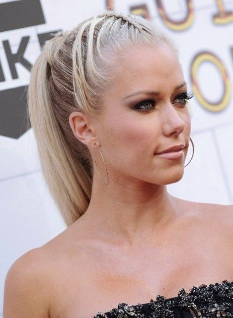 Kendra Wilkinson Braided Ponytail Hairstyles