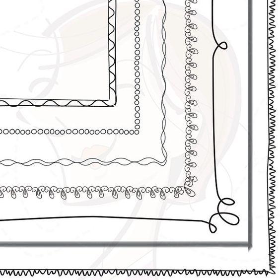 Doodle Black Border Digital Frames Clip Art Clipart ...