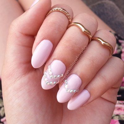 Simple Gel Color V Diamond Design On Natural Real Nails No Acrylics Www - Multi Color Glitter Chevron Nail Design On Real Nails Hand Painted