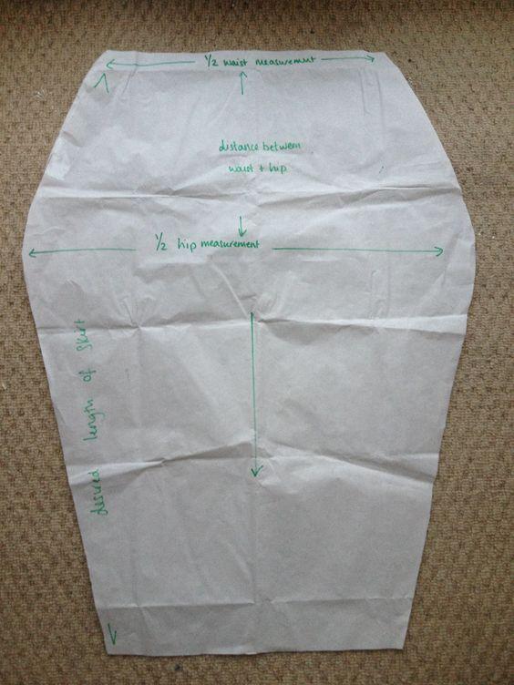 sleek silhouette jersey pencil skirt draft pattern diy