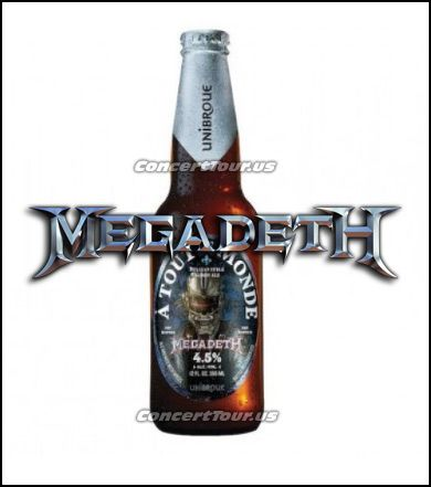 Here is what one of the Bottles of the Megadeth Beer will look like. Cool!
