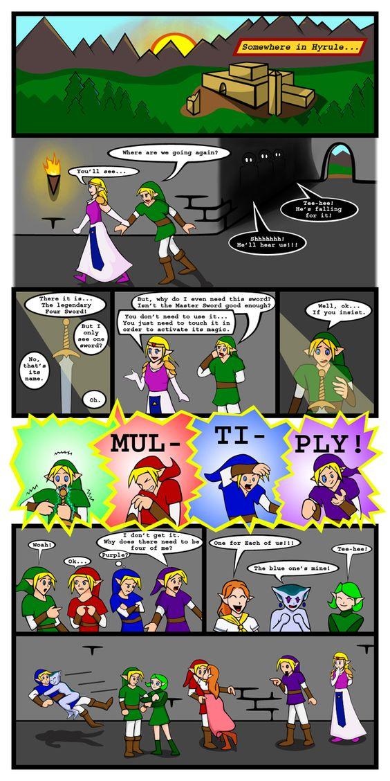 Zelda And Link In Love Comics